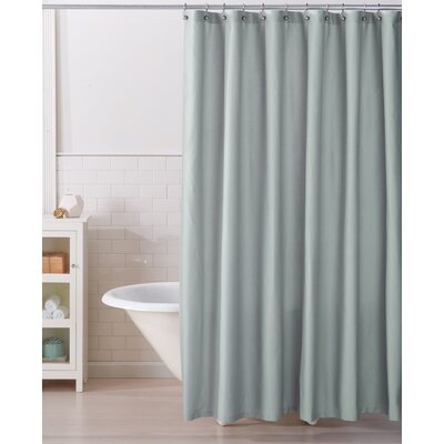 Monroe 100% Cotton Shower Curtain Color: Aqua