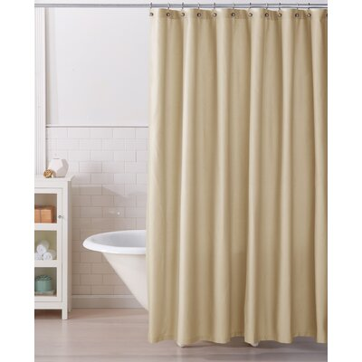 Monroe 100% Cotton Shower Curtain Color: Sandshell