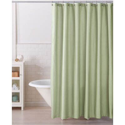 Monroe 100% Cotton Shower Curtain Color: Green