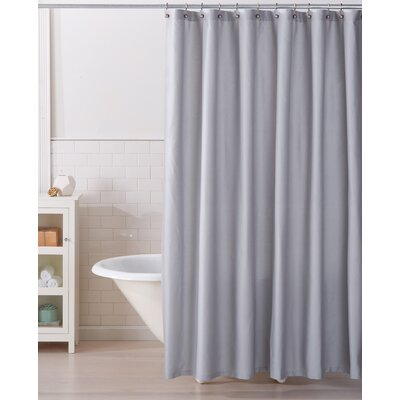 Monroe 100% Cotton Shower Curtain Color: Glacier Gray