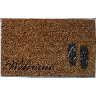 Hadley Coir Brushed Sandals Welcome Doormat