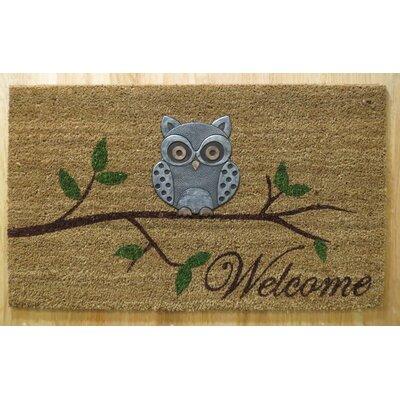 Hadley Coir Brushed Owl Welcome Doormat