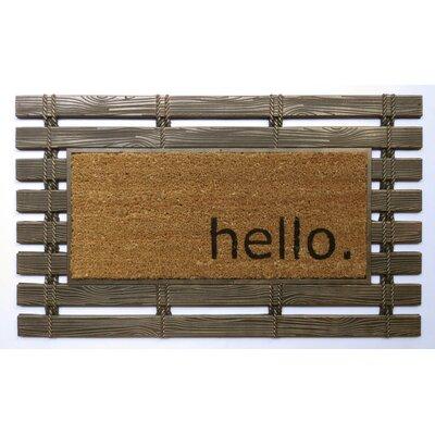 Montpelier Coir Brushed Hello Welcome Doormat