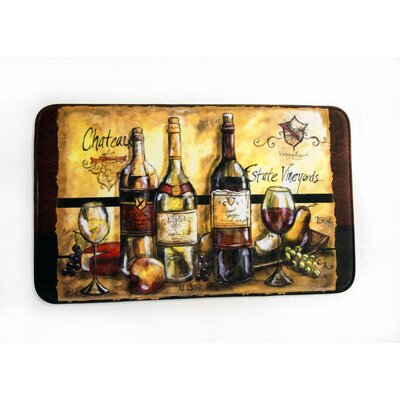 Wine Bottles Printed Fleece Mat