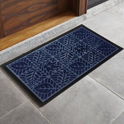 Trenton Sculpted Welcome Doormat Color: Navy
