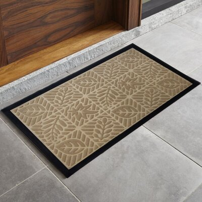 Trenton Sculpted Welcome Doormat Color: Taupe
