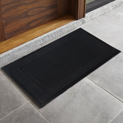 Trenton Scultped Welcome Doormat Color: Black