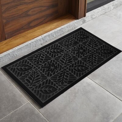 Trenton Sculpted Welcome Doormat Color: Black