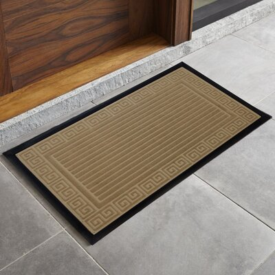 Trenton Scultped Welcome Doormat Color: Taupe
