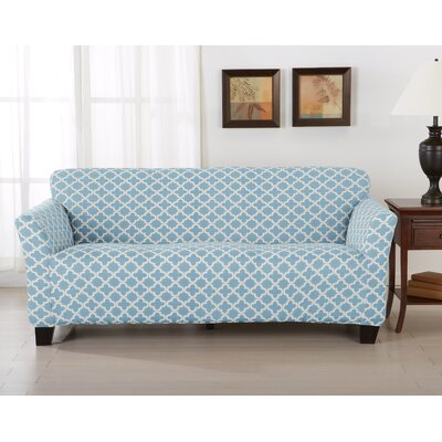 Brenna Box Cushion Sofa Slipcover Upholstery: Blue