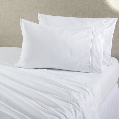 Claudette Double Brushed Luxury Sheet Set Size: King, Color: White