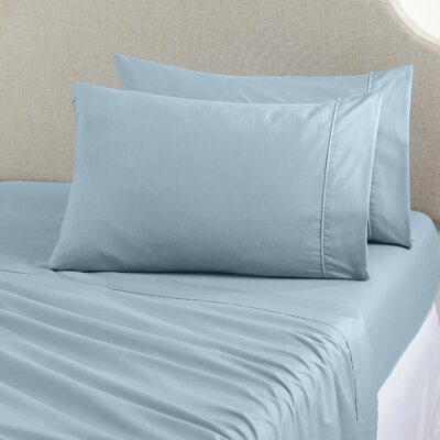 Claudette Double Brushed Luxury Sheet Set Size: King, Color: Mid Blue