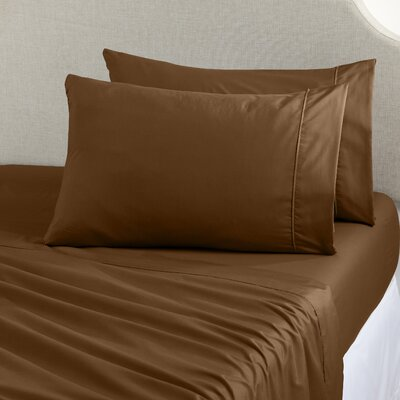 Claudette Double Brushed Luxury Sheet Set Size: Twin, Color: Chocolate
