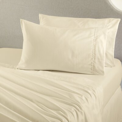 Claudette Double Brushed Luxury Sheet Set Size: Twin, Color: Ivory
