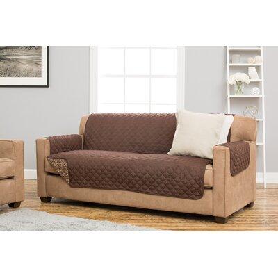 Katrina Sofa Slipcover Upholstery: Chocolate