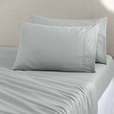 Claudette Double Brushed Luxury Sheet Set Size: King, Color: Light Gray