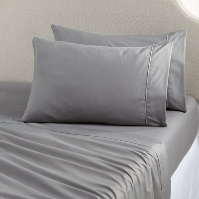 Claudette Double Brushed Luxury Sheet Set Size: Twin, Color: Dark Gray