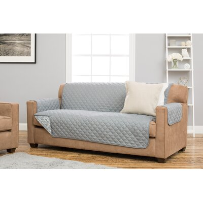 Katrina Box Cushion Sofa Slipcover Upholstery: Gray