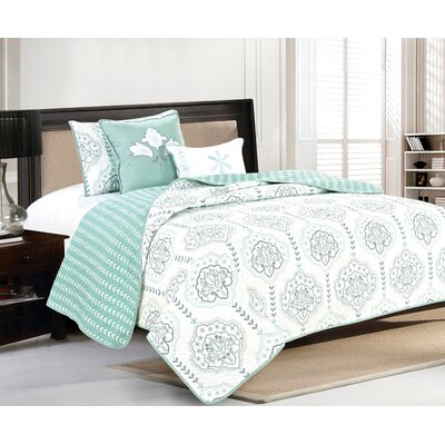 Cassidy Quilt Set Size: Twin, Color: Harbor Gray