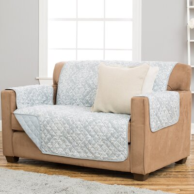 Kingston Box Cushion Loveseat Slipcover Upholstery: Pewter