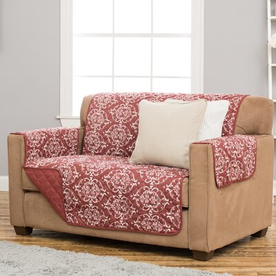 Kingston Loveseat Slipcover Upholstery: Marsala Red