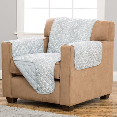 Kingston Box Cushion Armchair Slipcover Upholstery: Pewter
