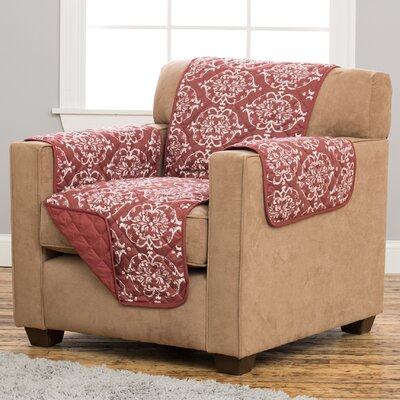 Kingston Box Cushion Armchair Slipcover Upholstery: Marsala Red