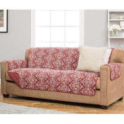 Kingston Box Cushion Sofa Slipcover Upholstery: Marsala Red