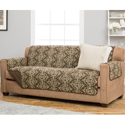 Kingston Sofa Slipcover Upholstery: Chocolate