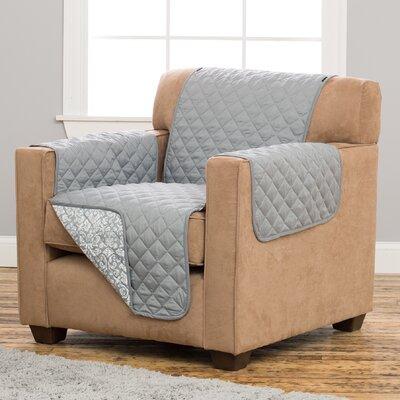 Katrina Box Cushion Armchair Slipcover Upholstery: Gray