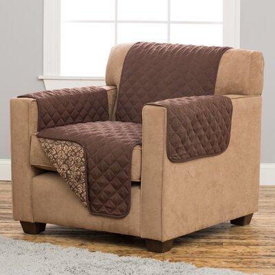 Katrina Box Cushion Armchair Slipcover Upholstery: Chocolate