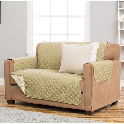 Katrina Box Cushion Loveseat Slipcover Upholstery: Desert Sage