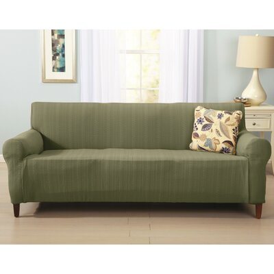 Darla Box Cushion Sofa Slipcover Upholstery: Tea Green