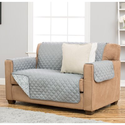 Katrina Box Cushion Loveseat Slipcover Upholstery: Gray