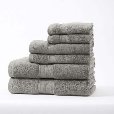 Chapelle Luxury Hotel/Spa 6 Piece Towel Set Color: Gray