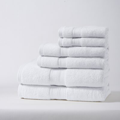 Chapelle Luxury Hotel/Spa 6 Piece Towel Set Color: White