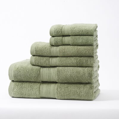 Chapelle Luxury Hotel/Spa 6 Piece Towel Set Color: Dewkist Green