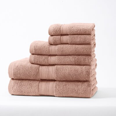 Chapelle Luxury Hotel/Spa 6 Piece Towel Set Color: Rose Tan