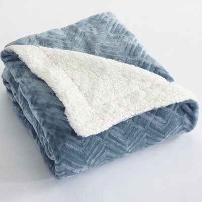 Premium Reversible Luxury Bed Blanket Size: King, Color: Blue Surf