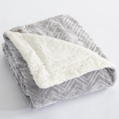 Premium Reversible Luxury Bed Blanket Size: Full/Queen, Color: Pewter