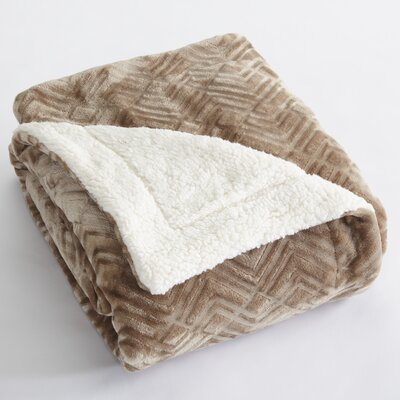 Premium Reversible Luxury Bed Blanket Size: Full/Queen, Color: Taupe