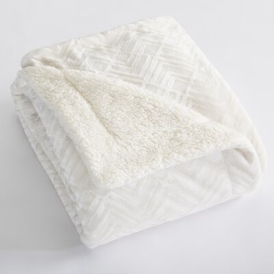 Premium Reversible Luxury Bed Blanket Size: King, Color: Winter White