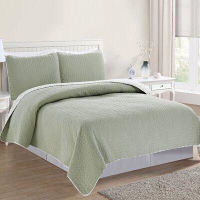 Avignon Reversible Quilt Set Size: Full/Queen, Color: Desert Sage