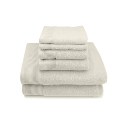 Lavante Luxury 100% Zero Twist Cotton 6 Piece Towel Set Color: Ivory
