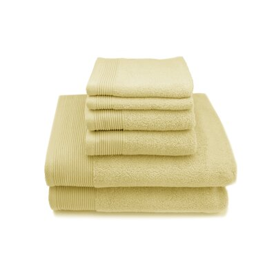 Lavante Luxury 100% Zero Twist Cotton 6 Piece Towel Set Color: Yellow