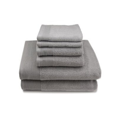 Lavante Luxury 100% Zero Twist Cotton 6 Piece Towel Set Color: Gray