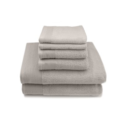 Lavante Luxury 100% Zero Twist Cotton 6 Piece Towel Set Color: Silver Cloud