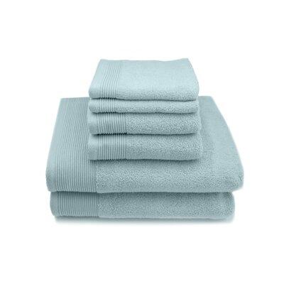 Lavante Luxury 100% Zero Twist Cotton 6 Piece Towel Set Color: Ether Blue