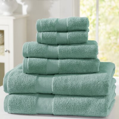 Adriano Luxury 6-Piece Towel Set Color: Surf