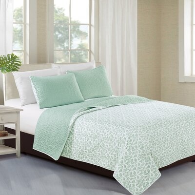 Kyla Reversible Quilt Set Size: King, Color: Harbor Gray